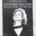Program autographed by Lauren Bacall