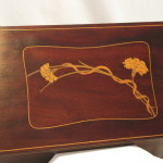 Edwardian inlaid mahogany ladies stationery box