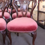 Set 6 blackwood balloon back dining chairs