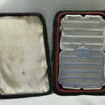 Sterling silver card case by Edward Smith of Birmingham
