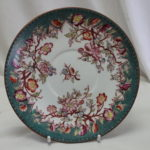 Sarreguemines hand coloured cup and saucer-pattern 218
