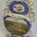 Hand painted English porcelain letter rack or note holder