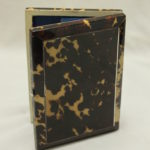 Silver inlaid tortoiseshell card case