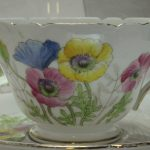 Shelley cup saucer & plate Poppy pattern 0262
